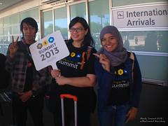 @cengakarux, @rara79 and @eriskatp at San Jose Airport