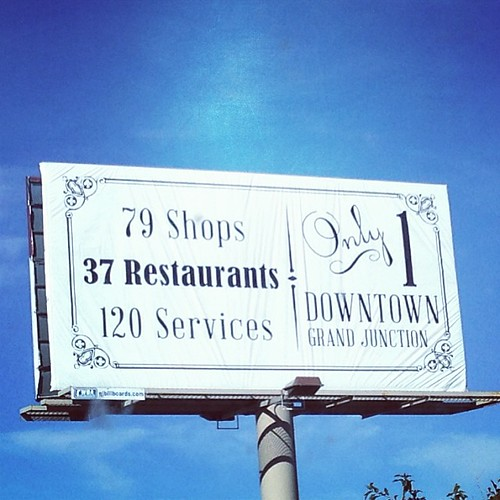 My design, on a billboard! #gjco