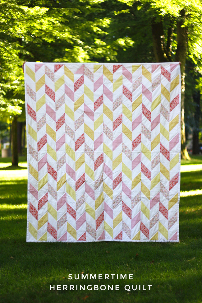 Do It Yourself Home Design: Summertime Herringbone Quilt
