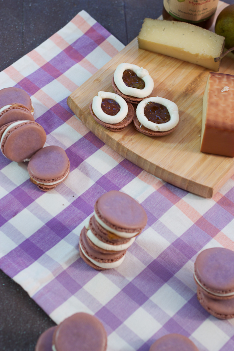 Fig and Chevre Macarons