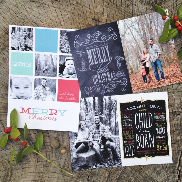 Christmas photo cards - recipe for crazy
