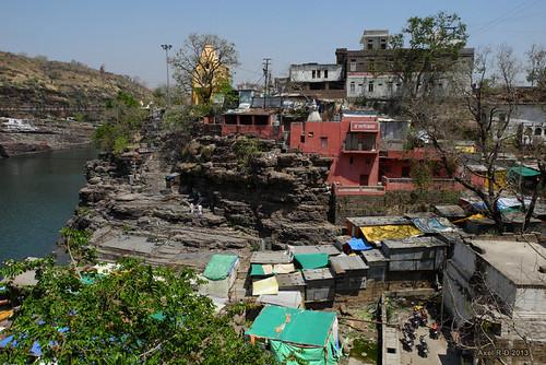 india rivière mp madhyapradesh omkareshwar bâtimentimmeuble