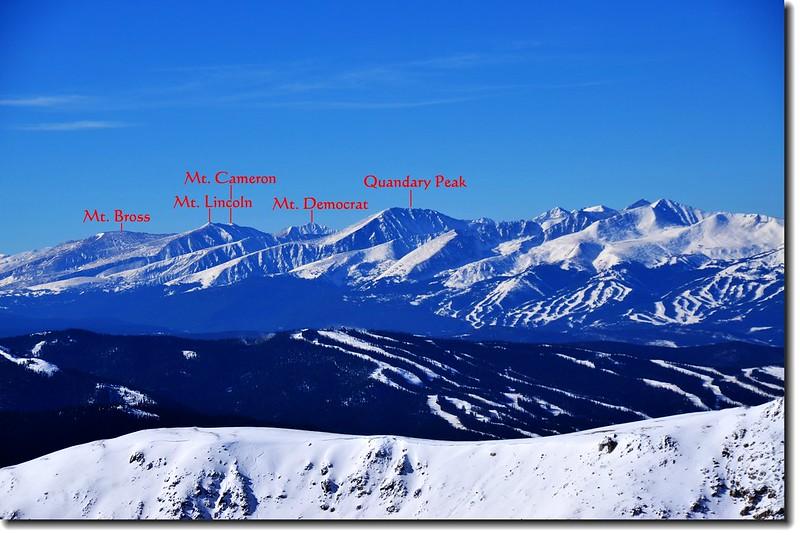 Loveland Pass  Point 12,915'遠眺西南邊Quandary等五座14ers 3