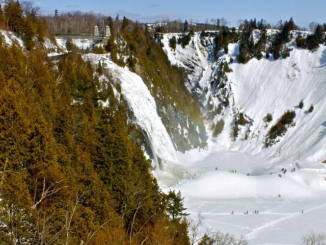 Les meilleures activités du Quebec les chutes glacées de Montmorency