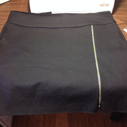 Self drafted zipper skirt #patterndrafting #slightlyhottopic