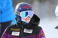 Kelsey Serwa on day 1 of training at the FIS Ski Cross World Cup in Nakiska, CAN