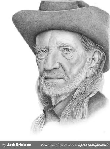 Willie Nelson Art By Jack Erickson Www