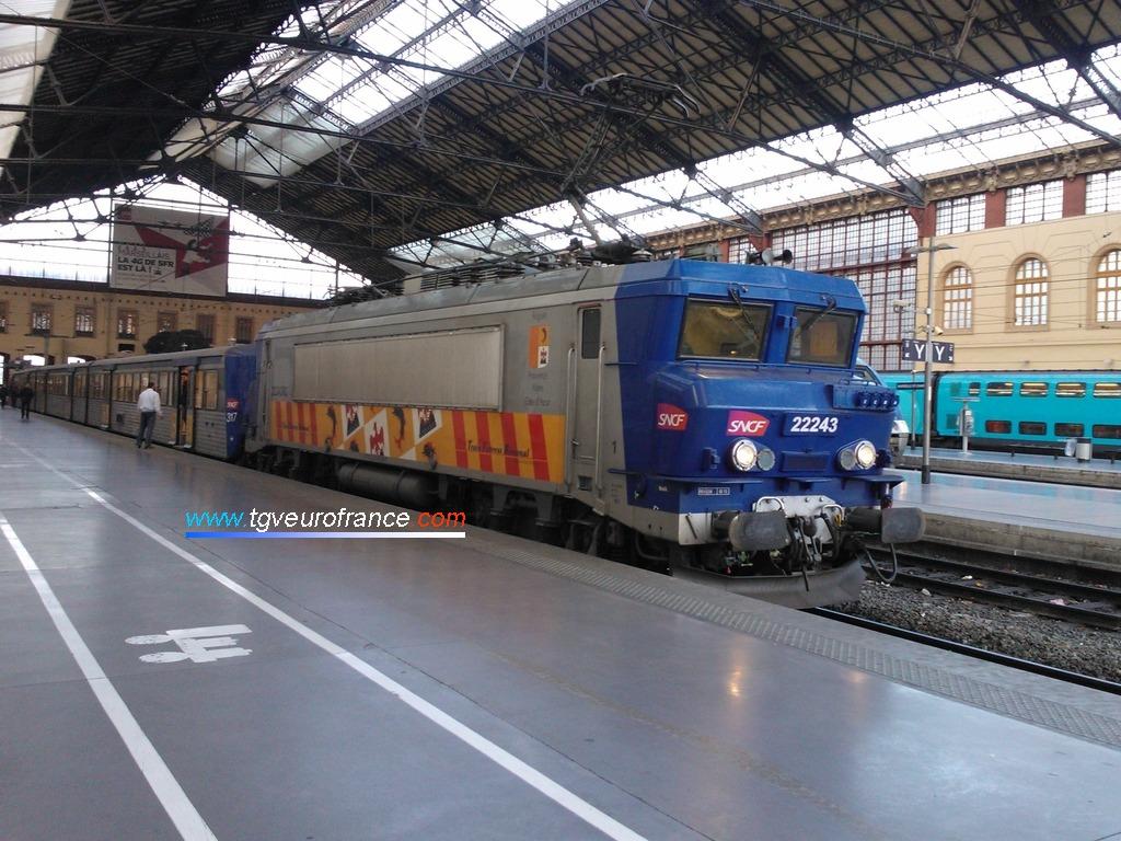 La locomotive électrique BB 22243 RC PACA équipée de la réversibilité par câblots