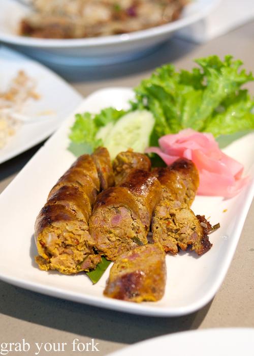 Sai oua pork sausage at Rim Tanon Haymarket Chinatown