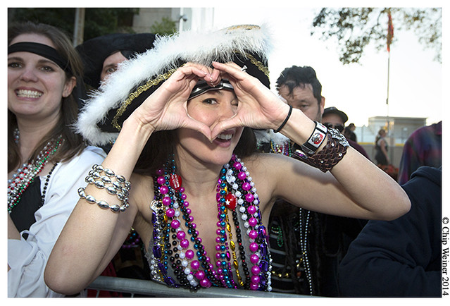 I heart Gasparilla shown by Kristi Krause