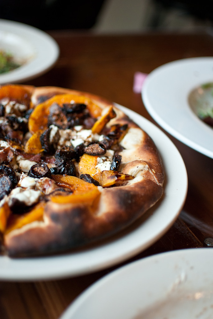 Fig and Squash pizza at Katie's pizza and Pasta
