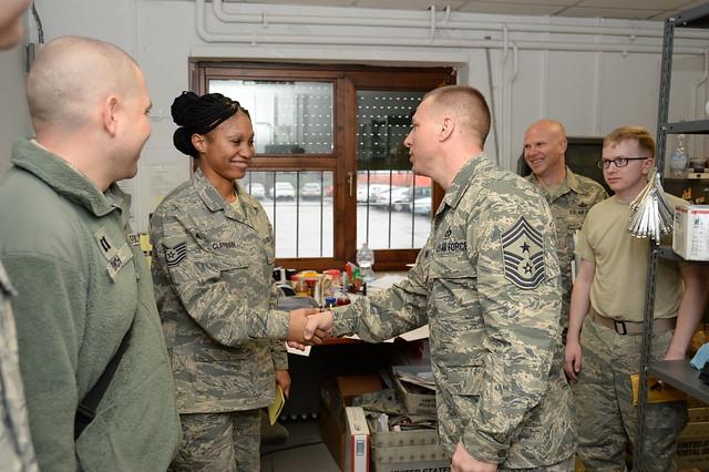 52nd FW leadership visit Ghedi Air Base