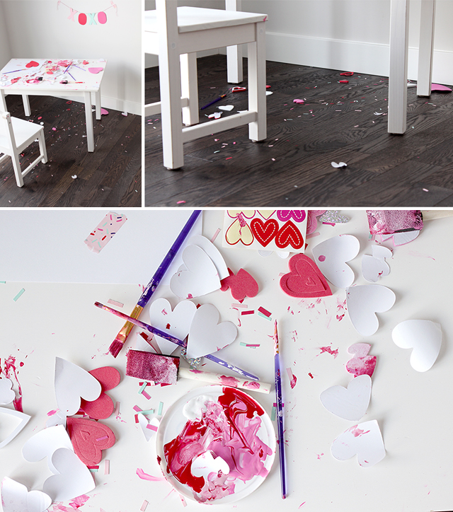Valentine's Day Kids Craft Table