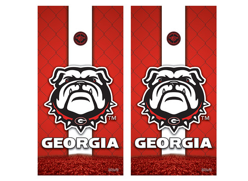Georgia Cornhole Game Decal Set