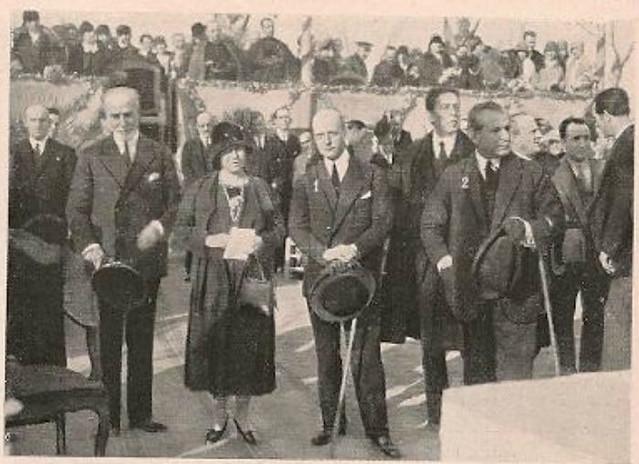 Acto de colocación de la primera piedra de la Escuela Normal de Magisterio de la Vega el 24 de marzo de 1929. Foto Rodríguez