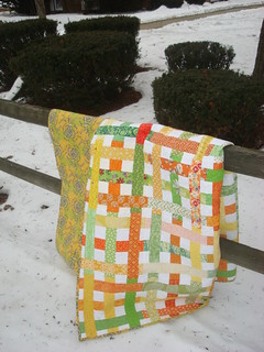 Citrus Simply Woven Stash Bee Quilt