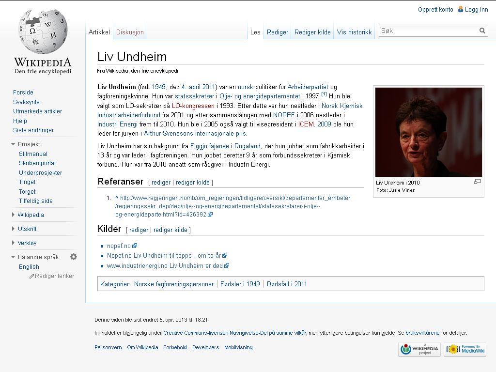 liv undheim wiki