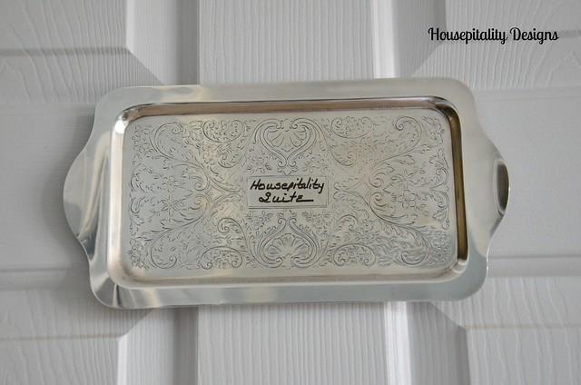 Silver room plaque