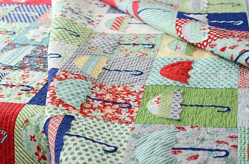 Raincheck Quilt by Thimble Blossoms featuring April Showers by Bonnie & Camille for Moda Fabrics