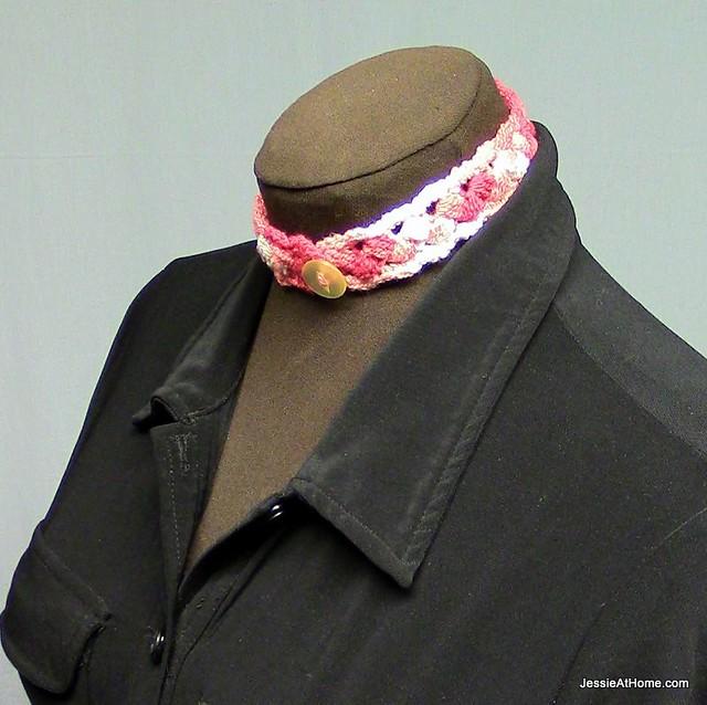 Crochet-Puff-Stitch-Choker-Free-Pattern