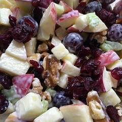 "Waldorf salad. Also known as ""use up the brui…"