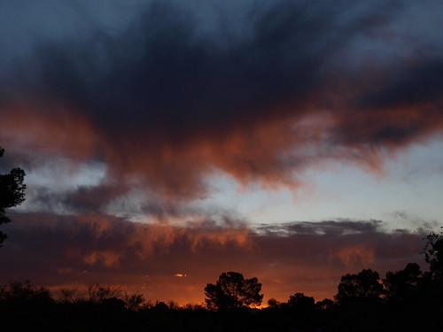 arizona clouds sunrise tucson