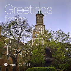 When @PaulGordonBrown visits #UNT... he makes a Greeting Card