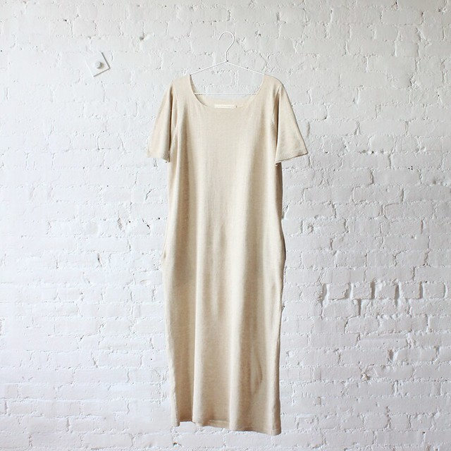Lauren Manoogian Tall T Dress // Natural