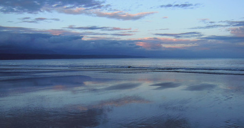 reflections landscape evening sundown blues beachscape plettenbergbay