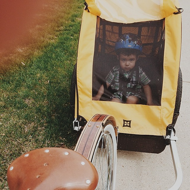 Aboard his chariot. #instaluther #toddler #burleybee #abouttown