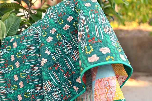 verdant quilt back