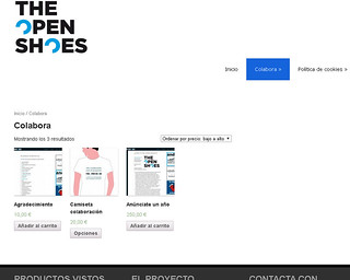 La tienda online de The Open Shoes.