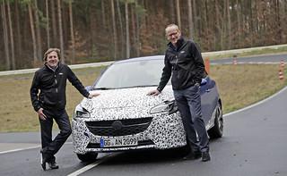 Der neue Corsa E OPC: Noch getarnt