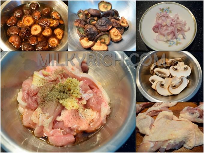 Thịt gà - nấm hương - 3