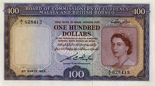Lot 526 Malaya and British Borneo 100 Dollars