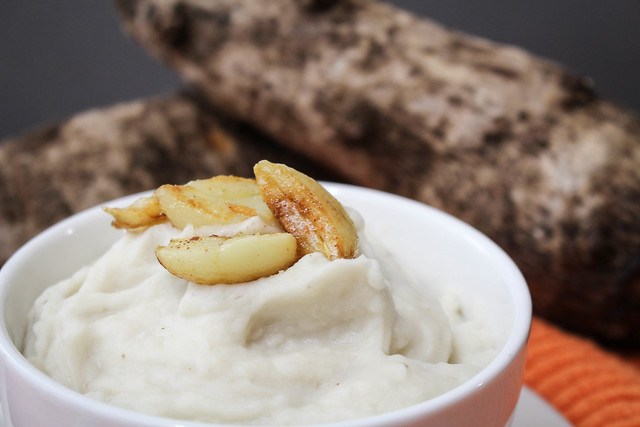 Whipped Malanga Puree With Brown Garlic Butter | via HeartofHomemade.com
