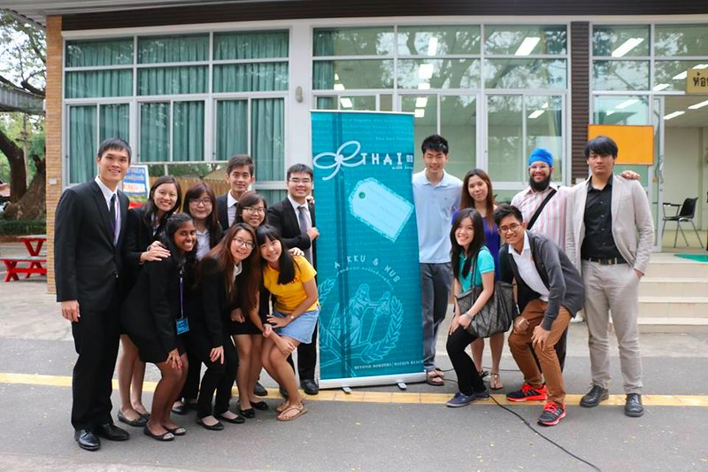 NUS & TU team with Project Standee