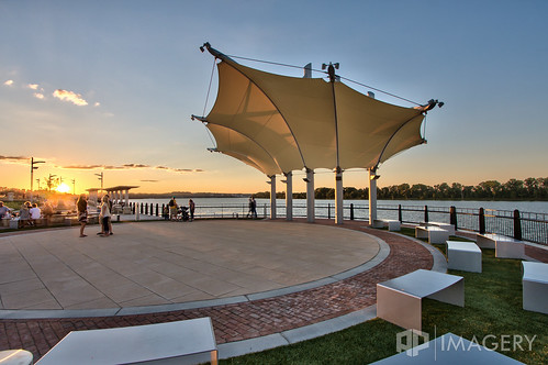sunset downtown pavilion canopy overlook ohioriver owensboro batwing smotherspark
