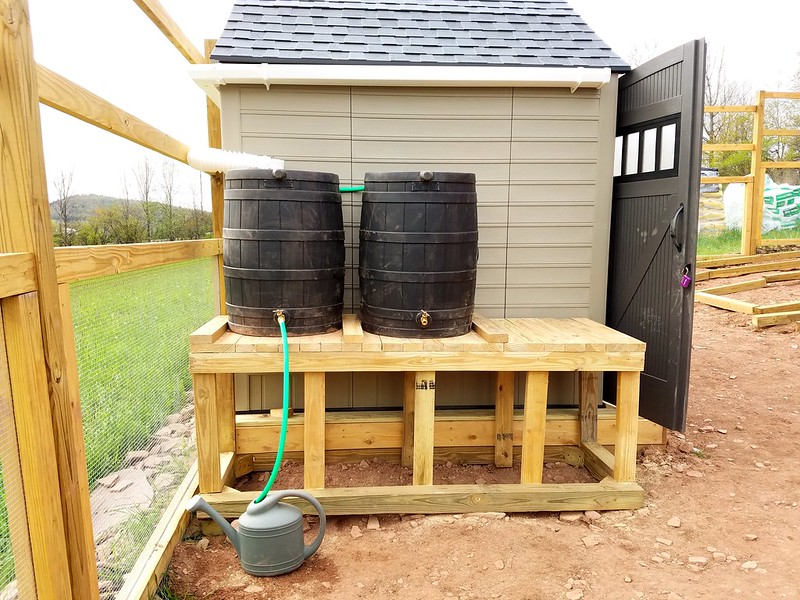 How to build a rainwater catchment on a shed roof for How to build a rainwater collection system