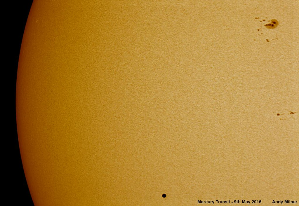 Mercury Transit and Sunspots
