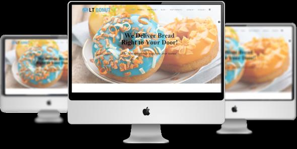 LT Donut v1.0 – Responsive Bread Store / Donuts Joomla Template