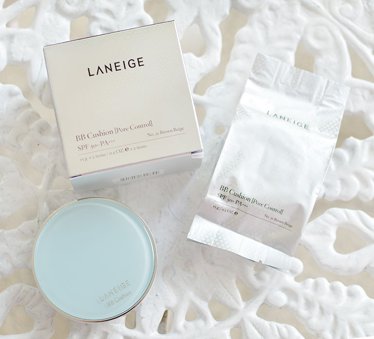 2 Laneige BB Cushion Pore Control Brown Beige Review Swatches - Gen-zel.com (c)