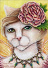 Peony Fairy Cat Art