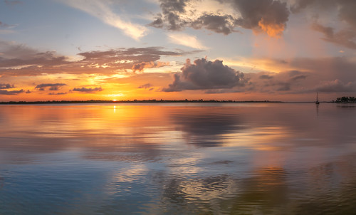 panorama reflection water clouds sunrise boat us unitedstates florida fineart cloudscape bradenton landscapephotography desotomemorial manateeriver manateecounty sonyalpha sonya7r2