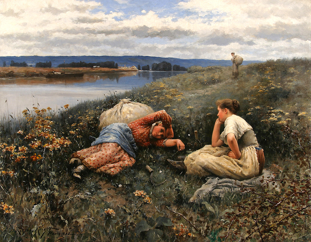 The Siesta by Daniel Ridgway Knight - 1882