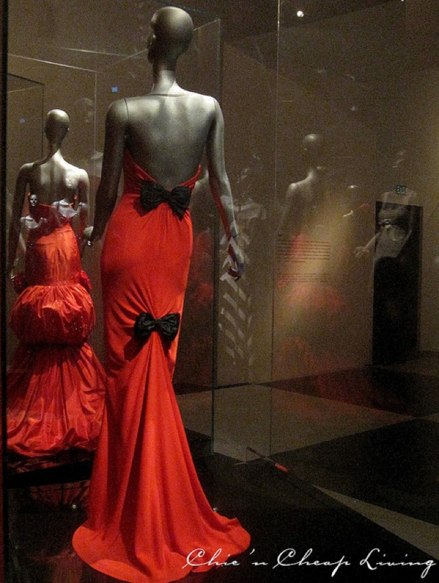 Valentino signature red and bows at Valentino Retrospective - by Chic n Cheap Living