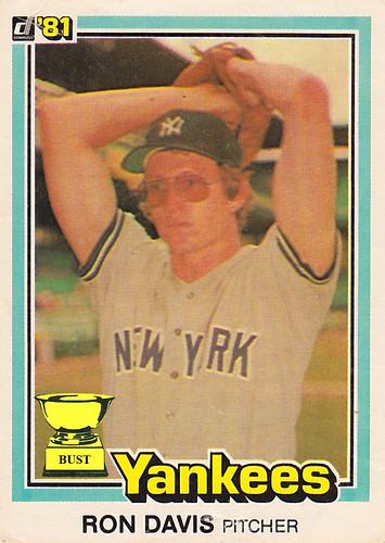 Baseball Card Bust Ron Davis 1981 Donruss