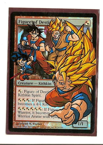 Figure of Destiny Magic the Gathering Altered Art MTG Card Goku Dragonball Z Art Magic cards