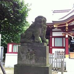 狛犬探訪 蒲田稗田神社 子連れではない
