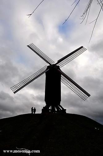 Molí de vent a les afores de Brugges
